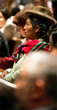 Ethnic Woman At UN Meeting