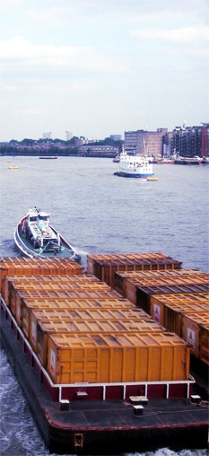 Ships carrying shipping containers