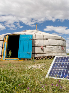 Yurt and Solor Panel
