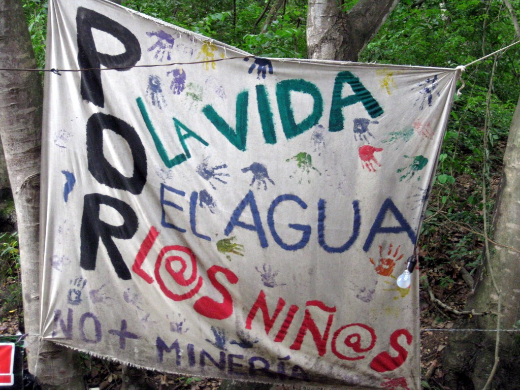 """For Life, For Water, For Children. No more mining."" Guatemala"